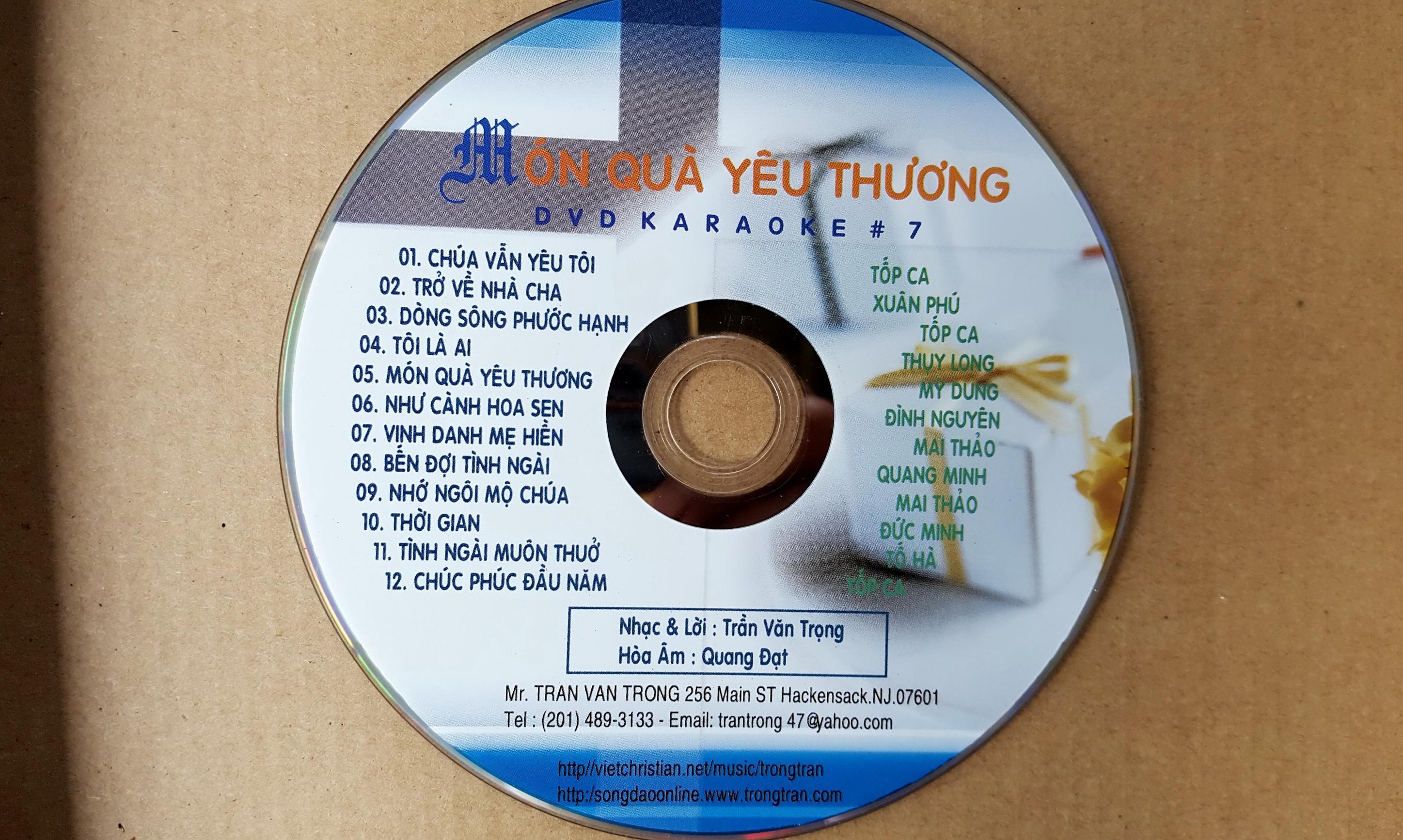 mon qua yeu thuong- DVD karaoke