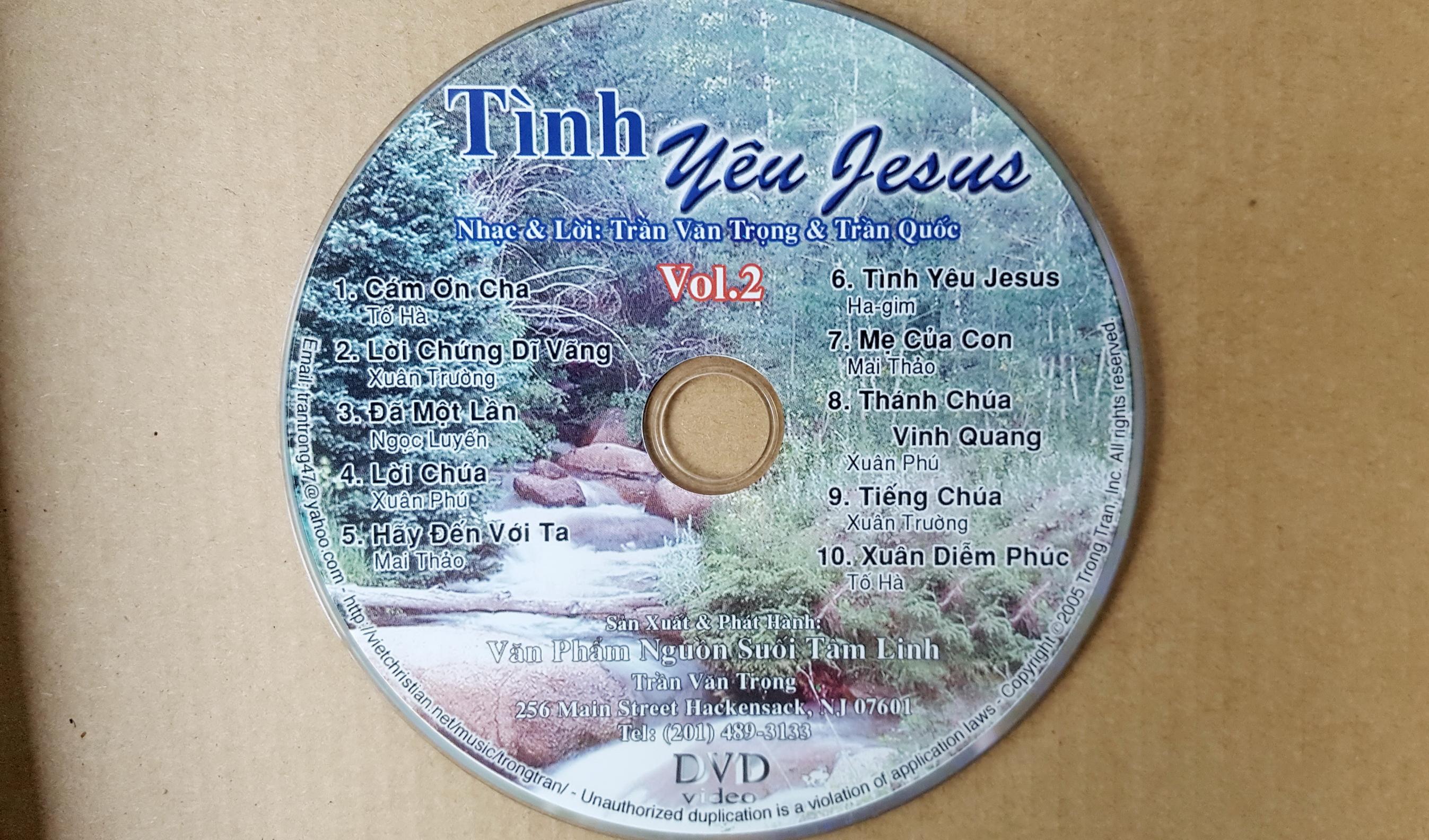tinh yeu Jesus- DVD karaoke