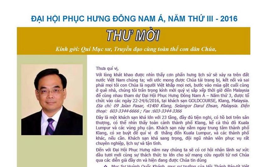 Dai hoi phuc hung Dong Nam A